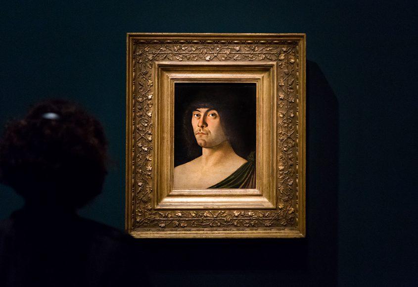Fabian Fröhlich, Berlin, Gemäldegalerie, Mantegna Bellini, Vildnis eines Humanisten