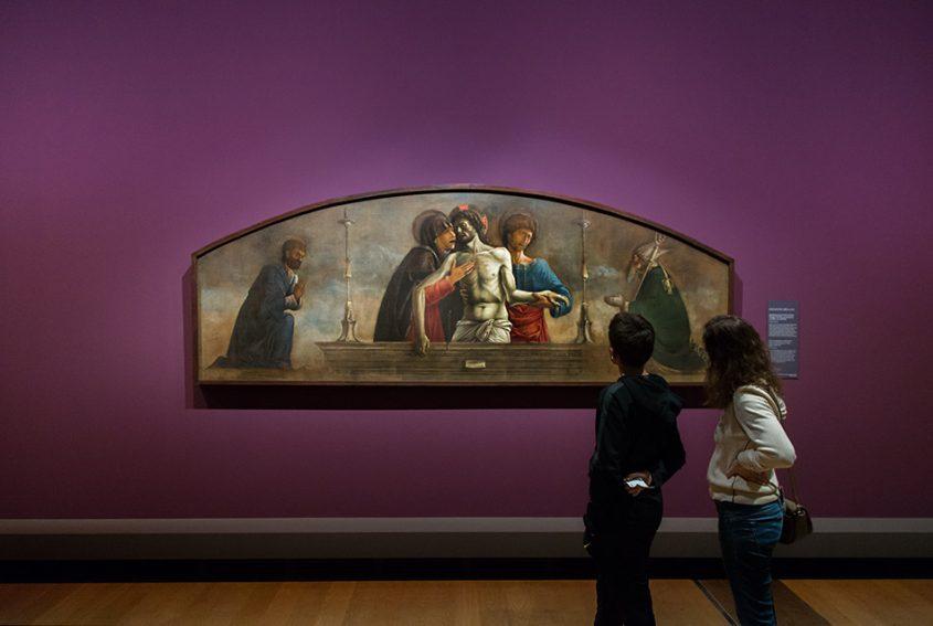 Fabian Fröhlich, Berlin, Gemäldegalerie, Mantegna Bellini, Die Betrauerung Christi