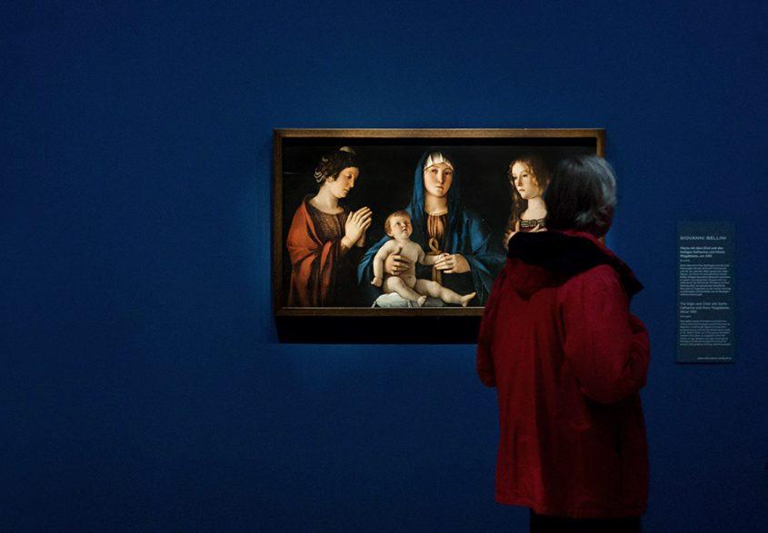 Fabian Fröhlich, Berlin, Gemäldegalerie, Mantegna Bellini, Maria mit der Hl Katharina und Maria Magdalena