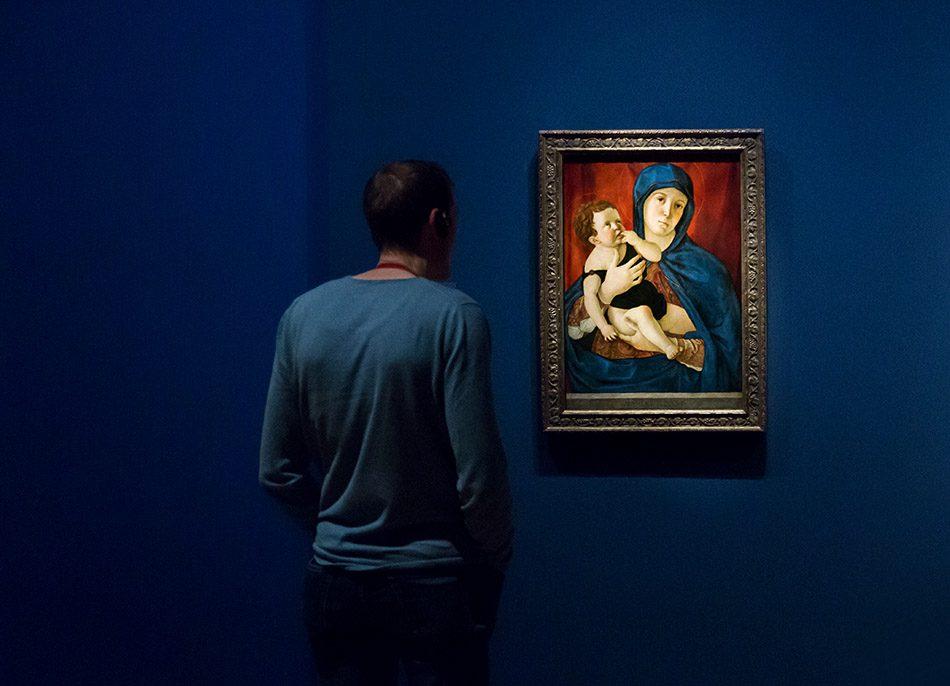 Fabian Fröhlich, Berlin, Gemäldegalerie, Bellini, Maria mit Kind