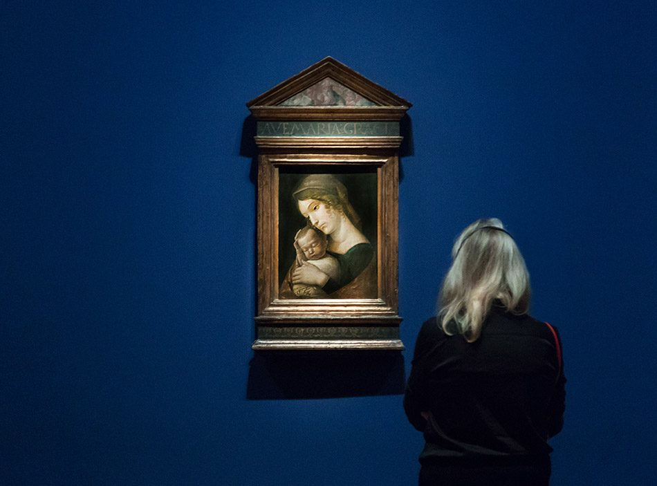 Fabian Fröhlich, Berlin, Gemäldegalerie, Mantegna, Maria mit Kind