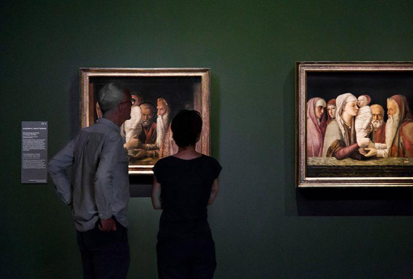 Fabian Fröhlich, Berlin, Gemäldegalerie, Mantegna Bellini, Darbringung im Tempel