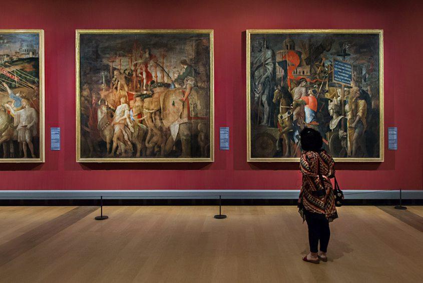 Fabian Fröhlich, Berlin, Gemäldegalerie, Mantegna, Triumphzug Cäsars