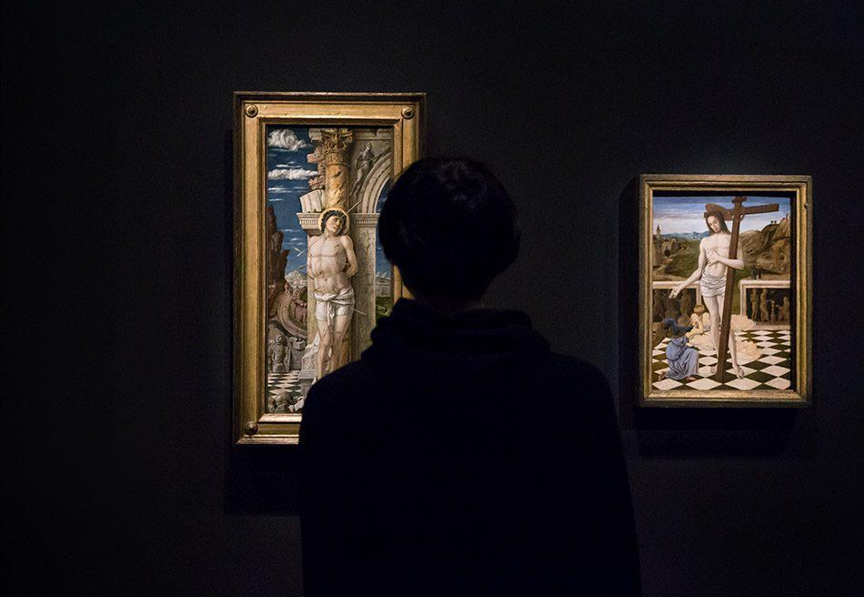 Fabian Fröhlich, Berlin, Gemäldegalerie, Mantegna, heiliger Sebastian