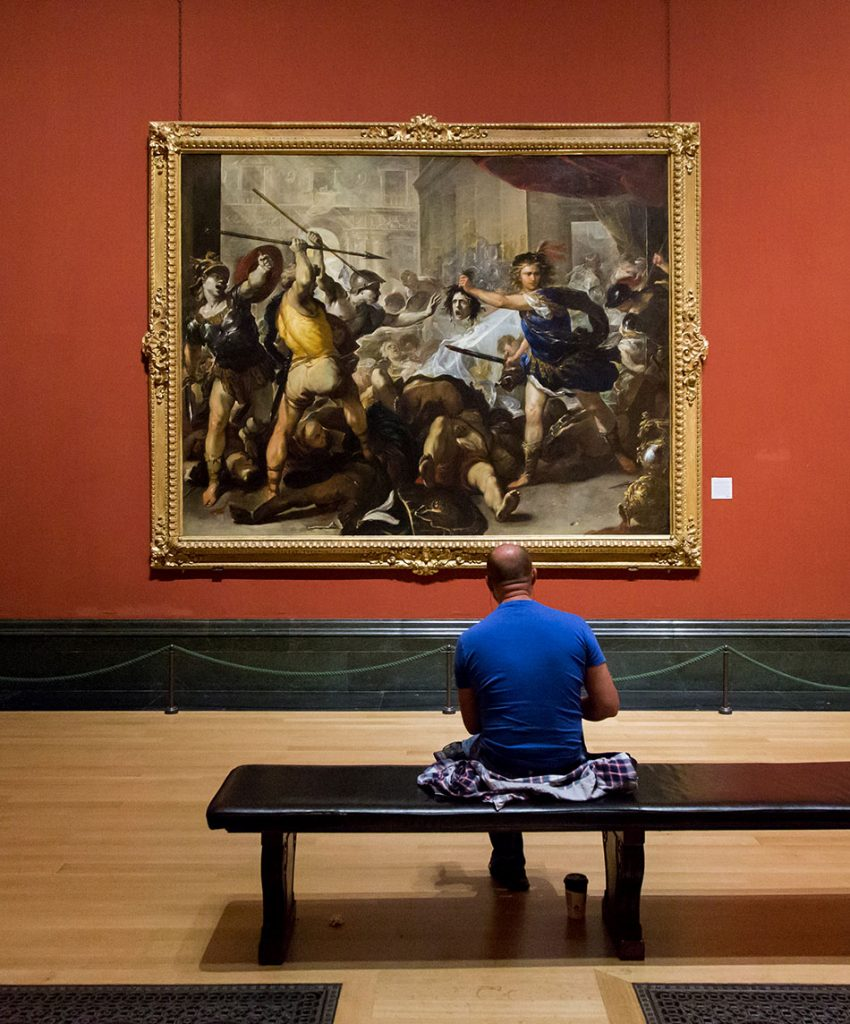 Fabian Fröhlich, National Gallery London, Luca Giordano, Perseus turning Phineas and his Followers to Stone