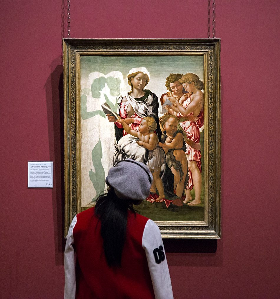 Fabian Fröhlich, National Gallery London, Michelangelo, The Manchester Madonna
