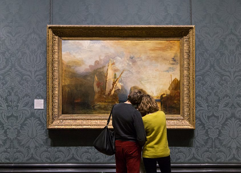 Fabian Fröhlich, National Gallery London, Joseph Mallord William Turner, Ulysses deriding Polyphemus