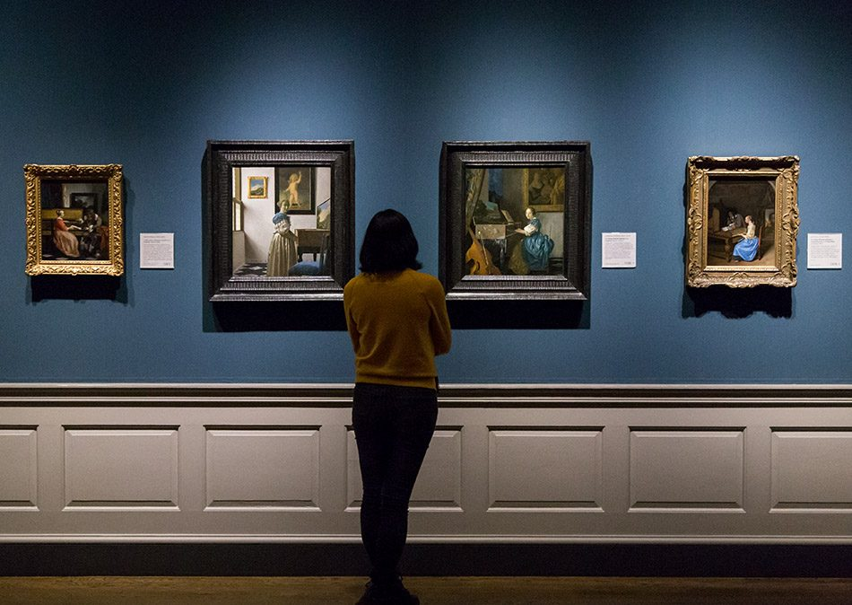 Fabian Fröhlich, National Gallery London, Johannes Vermeer, A Young Woman standing at a Virginal / A Young Woman seated at a Virginal