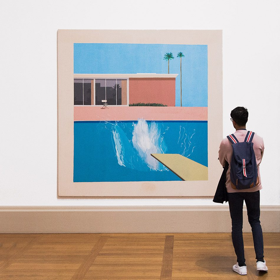 Fabian Fröhlich, Tate Britain, David Hockney, A Bigger Splash