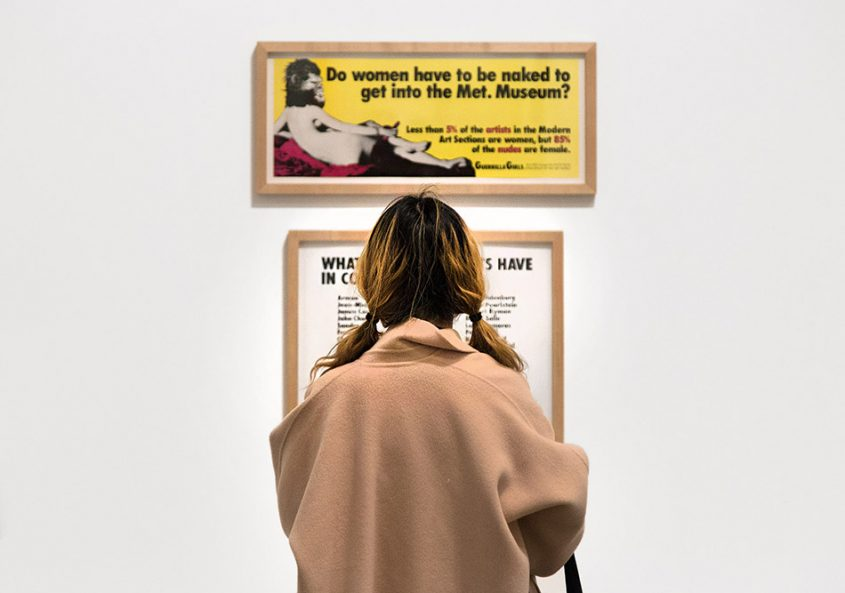 Fabian Fröhlich, Tate Modern, Londin, Guerrilla Girls, Do Women Have To Be Naked To Get Into the Met. Museum?