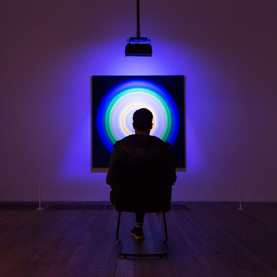 Fabian Fröhlich, Tate Modern London, Peter Sedgley, Colour Circle IIi