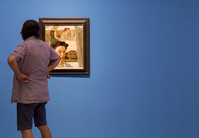 Fabian Fröhlich, Berlinische Galerie, Lotte Laserstein, SElf-portrait