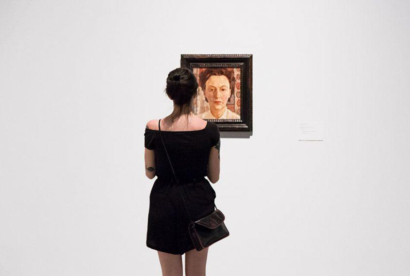 Fabian Fröhlich, Berlinische Galerie, Lotte Laserstein, Selbstporträt in Pink
