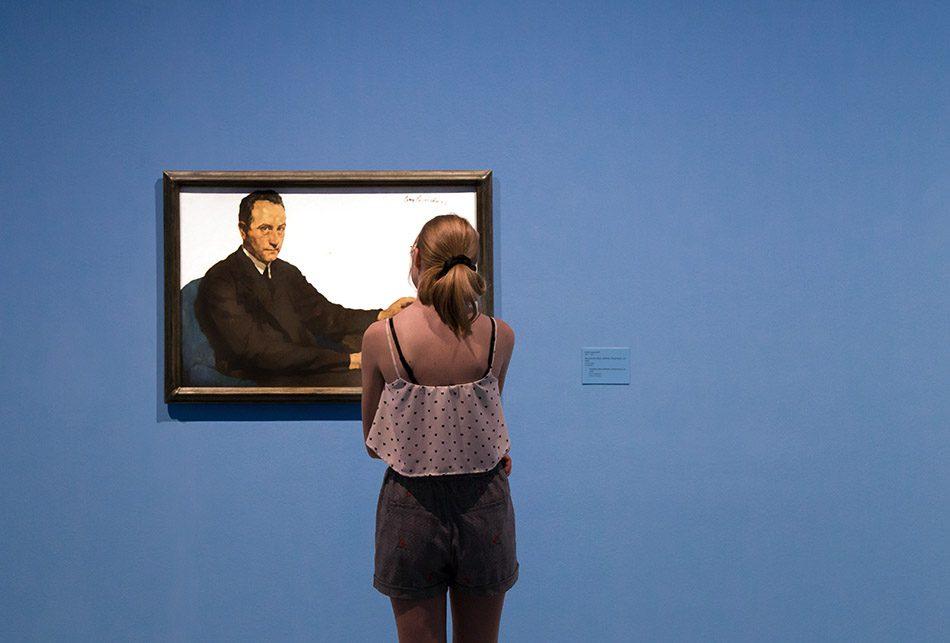 Fabian Fröhlich, Berlinische Galerie, Lotte Laserstein, Smoking Man