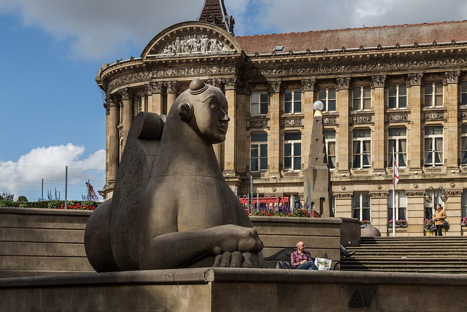 Fabian Fröhlich, Birmingham, Sphinx by Dhruva Mistry at Victoria Square