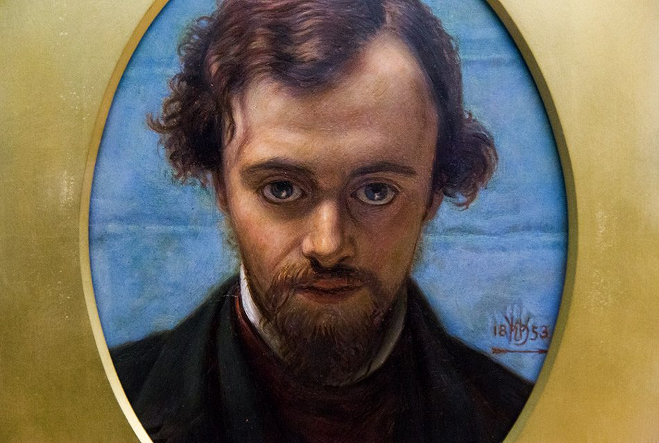Fabian Fröhlich, Birmingham Museum & Art Gallery, William Holman Hunt, Portrait of Dante Gabriel Rossetti at 22 years of age