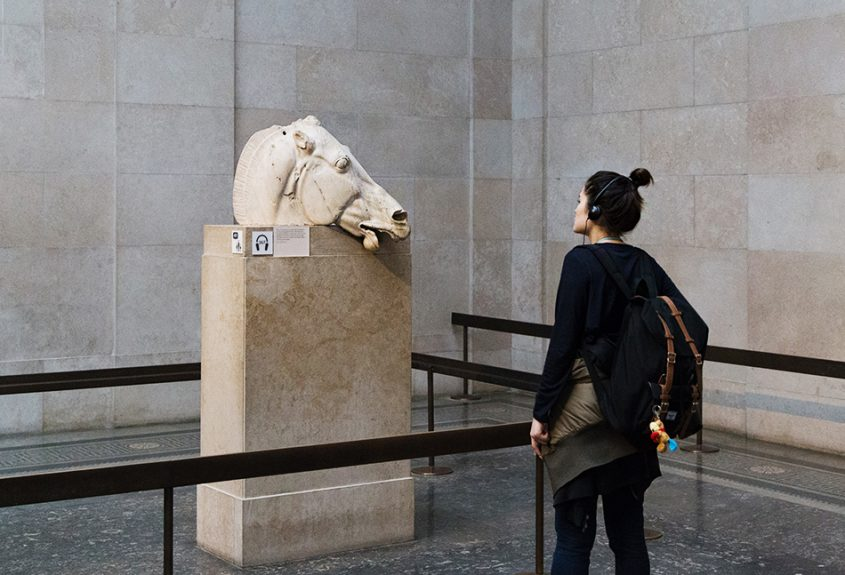 Fabian Fröhlich, British Museum, Head of a horse from the east pediment of the Parthenon.