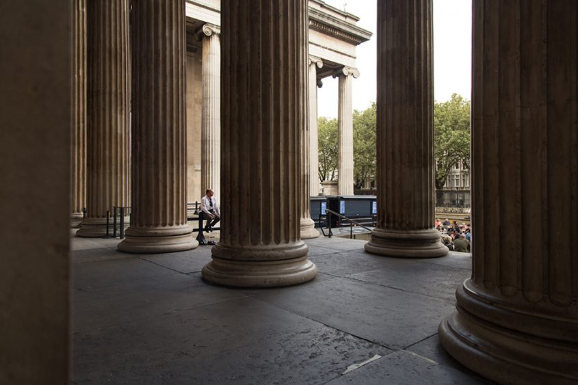 Fabian Fröhlich, British Museum, Security guard at the south entrance of the British Museum