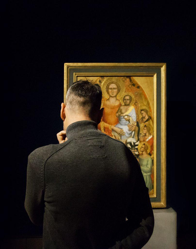 Fabian Fröhlich, Herzog Anton Ulrich-Museum Braunschweig, Niccolò di Pietro Gerini (Werkstatt), Madonna mit Kind, umgeben von Engeln