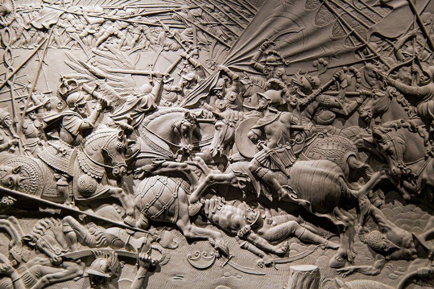 Fabian Fröhlich, Gotha, Schloss Friedenstein, Schlossmuseum, Schlacht Karls des Großen gegen die Hunnen vor Regensburg, Hans Ässlinger zugeschrieben