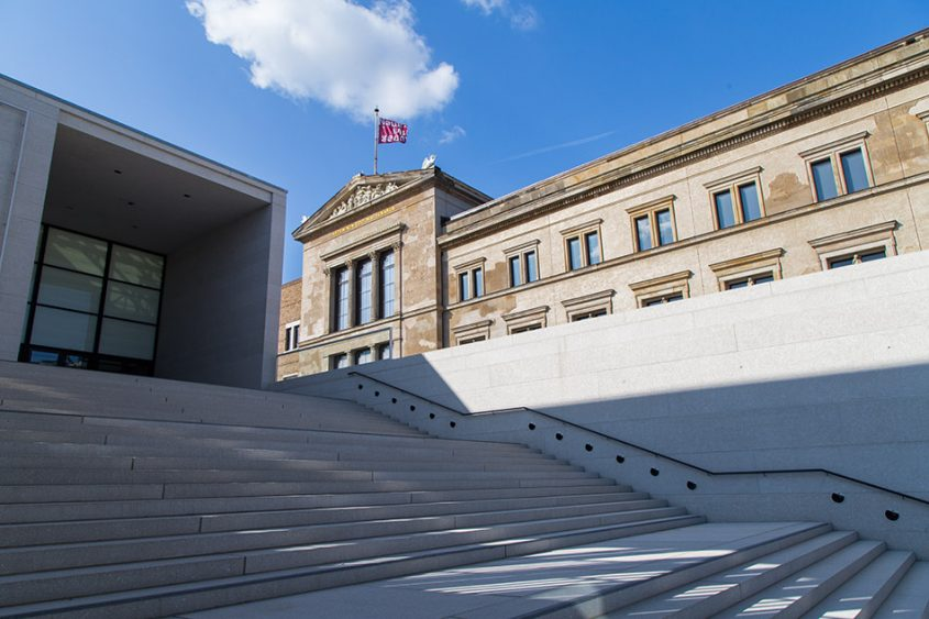 Fabian Fröhlich, James-Simon-Galerie, Berlin, David Chipperfield, West facade of the Neues Museum