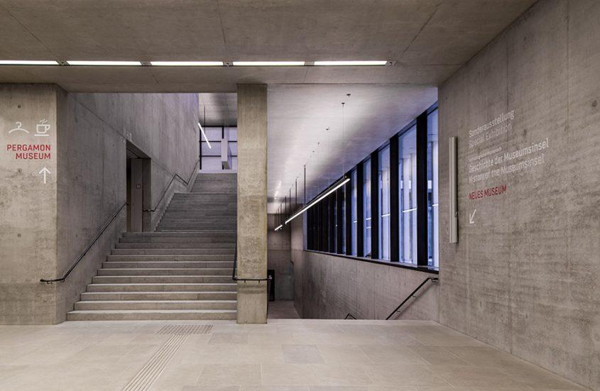 Fabian Fröhlich, James-Simon-Galerie, Berlin, David Chipperfield, Unteres Foyer