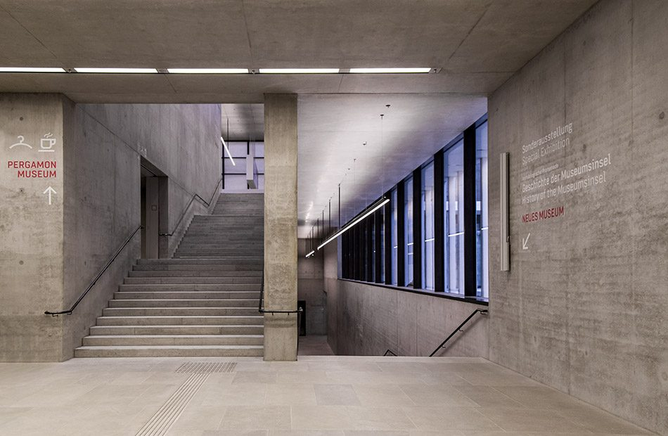 Fabian Fröhlich, James-Simon-Galerie, Berlin, David Chipperfield, Unteres Foyer