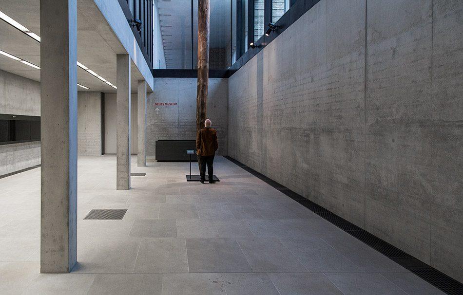 Fabian Fröhlich, James-Simon-Galerie, Berlin, David Chipperfield, Gründungspfahl