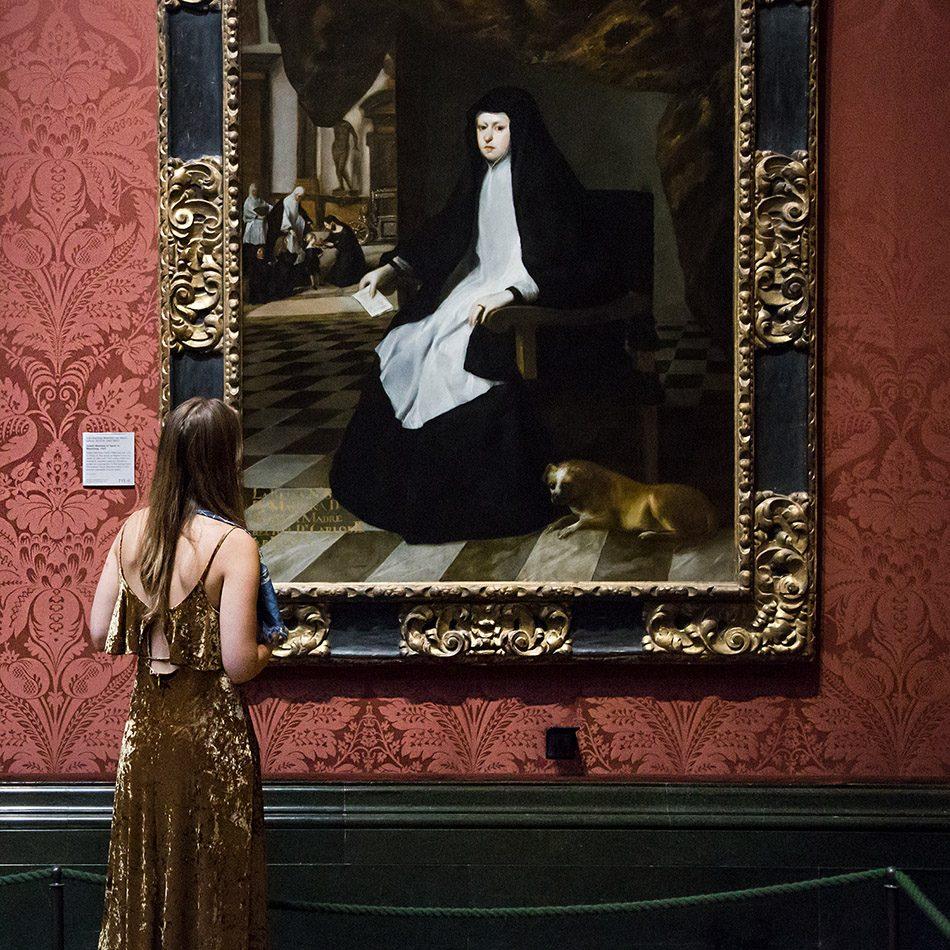 Fabian Fröhlich, National Gallery, London, Juan Bautista Martinez del Mazo, Queen Mariana of Spain in Mourning