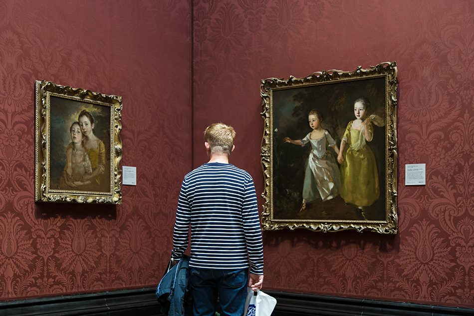 Fabian Fröhlich, National Gallery, London, Thomas Gainsborough, The Painter's Daughters chasing a Butterfly