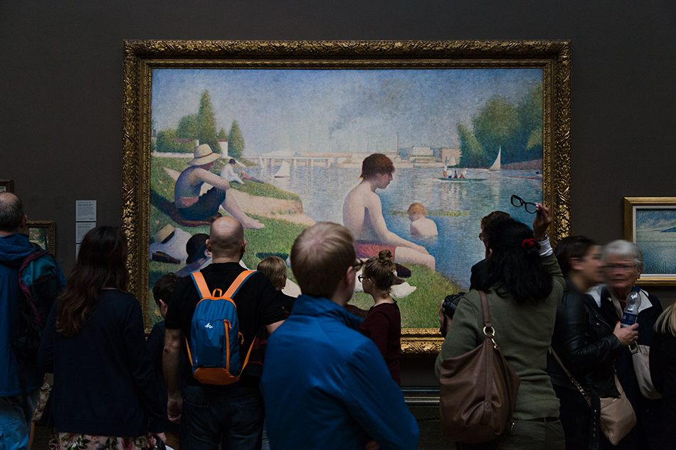 Fabian Fröhlich, National Gallery, London, Georges Seurat, Bathers at Asnières
