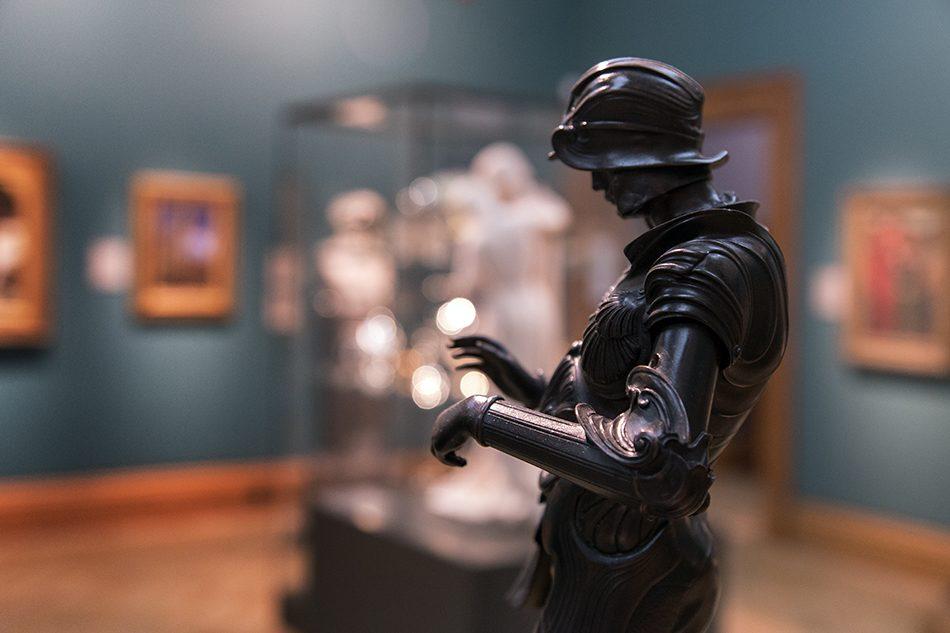 Fabian Fröhlich, Oxford, Ashmolean Museum, Alfred Gilbert, Statuette of Saint George