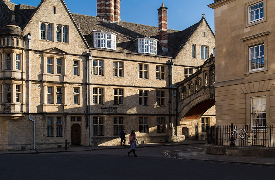 Fabian Fröhlich, Oxford, Hertford College and Bridge of Sighs