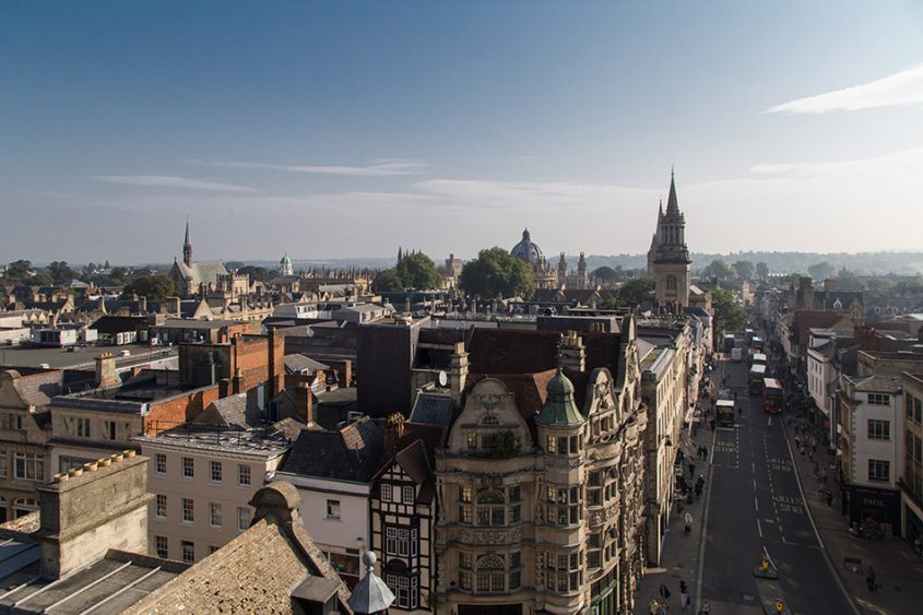 Fabian Fröhlich, Oxford, High Street seen from Carfax Tower