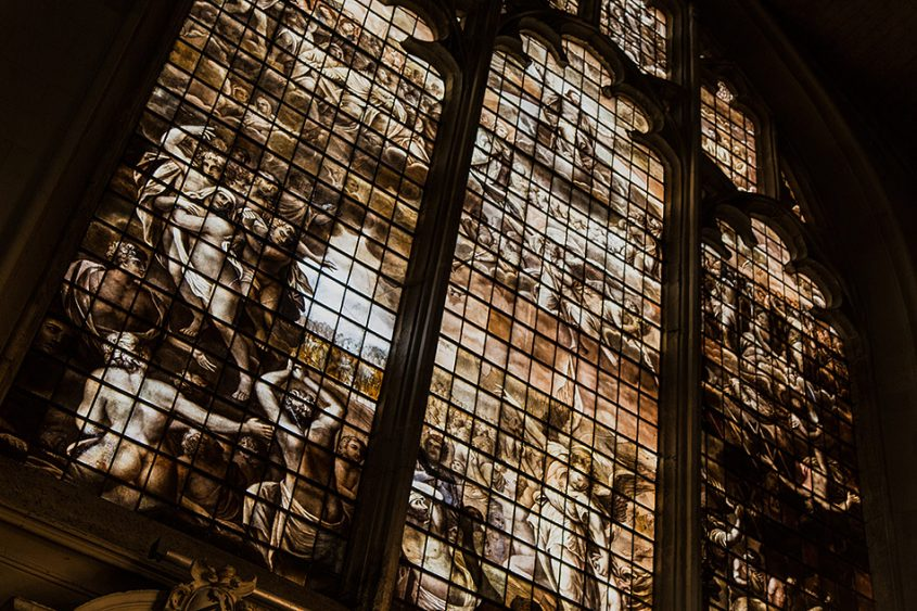 Fabian Fröhlich, Oxford, Window with the Last Judgement in the chapel of Magdalen College
