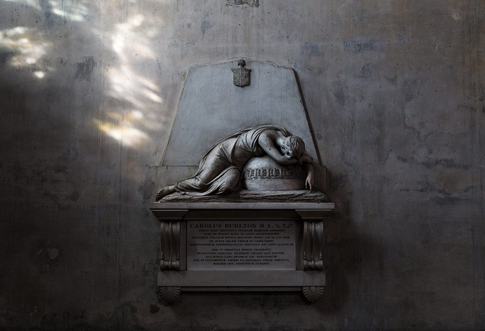 Fabian Fröhlich, Oxford, Monument in the chapel of New College