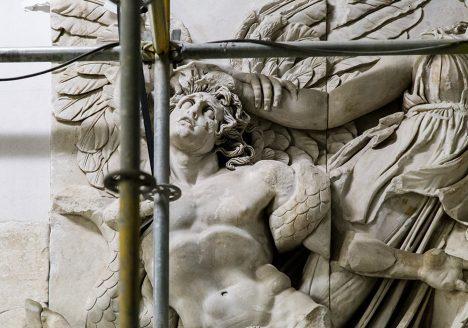 Fabian Fröhlich, Baustelle Pergamonmuseum, Pergamonaltar