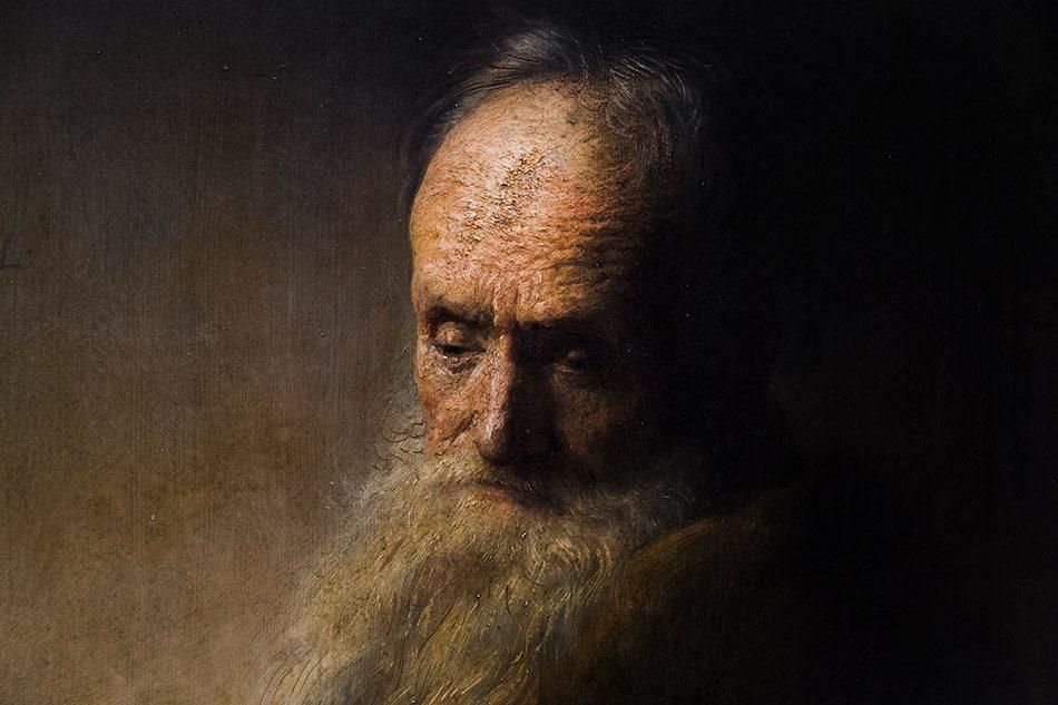Fabian Fröhlich, Staatliches Museum Schwerin, Rembrandt Nachfolge, Alter Mann
