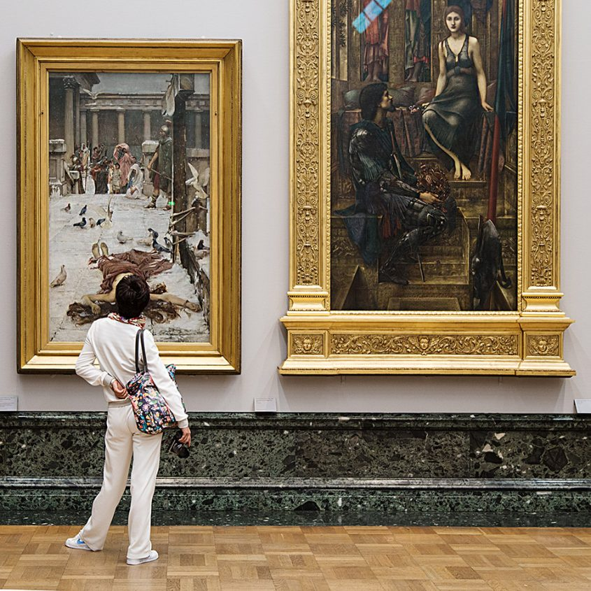 Fabian Fröhlich, Tate Britain, John William Waterhouse, Saint Eulalia ; Edward Burne-Jones, King Cophetua and the Beggar Maid