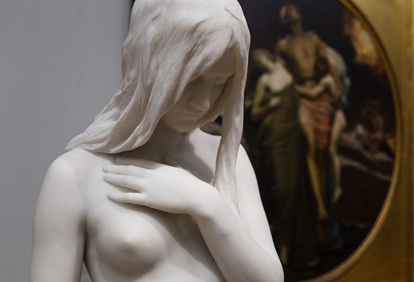 Fabian Fröhlich, Tate Britain, Eve by Thomas Brock and And the Sea Gave Up the Dead Which Where in It by Frederick Leighton