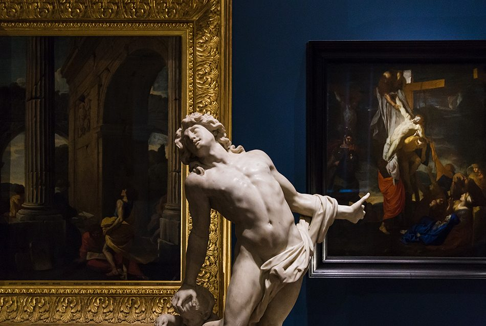 Fabian Fröhlich, V&A, Christophe Veyrier , Dying Achilles; Charles Le Brun, Descent from the Cross