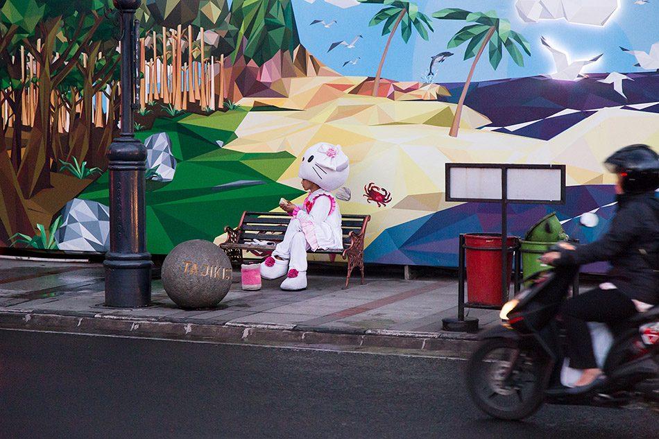 Fabian Fröhlich, Hello Kitty costume, Java, Bandung,