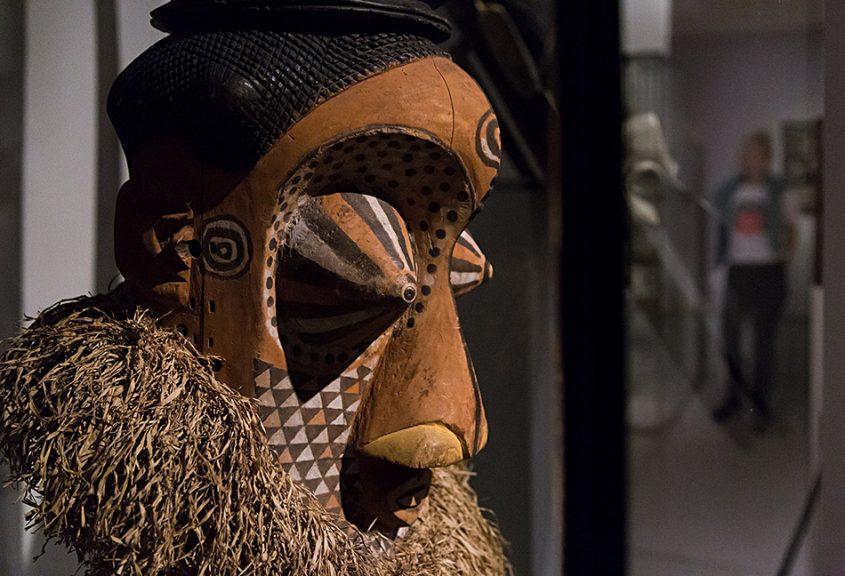 Fabian Fröhlich: Unvergleichlich: Kunst aus Afrika im Bode-Museum, Mulwalwa-Maske, Kuba-Königreich (Demokratische Republik Kongo)