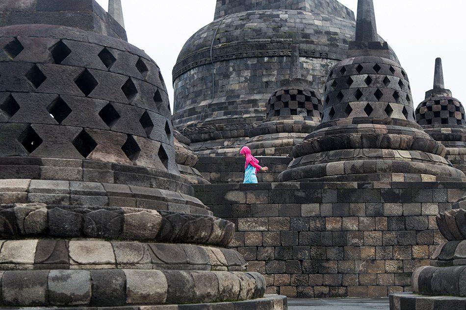 Fabian Fröhlich, Borobudur Temple, Stupas