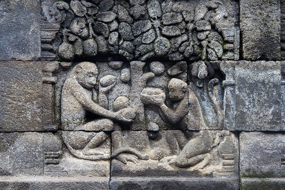 Fabian Fröhlich, Borobudur Temple, Rlief with monkeys