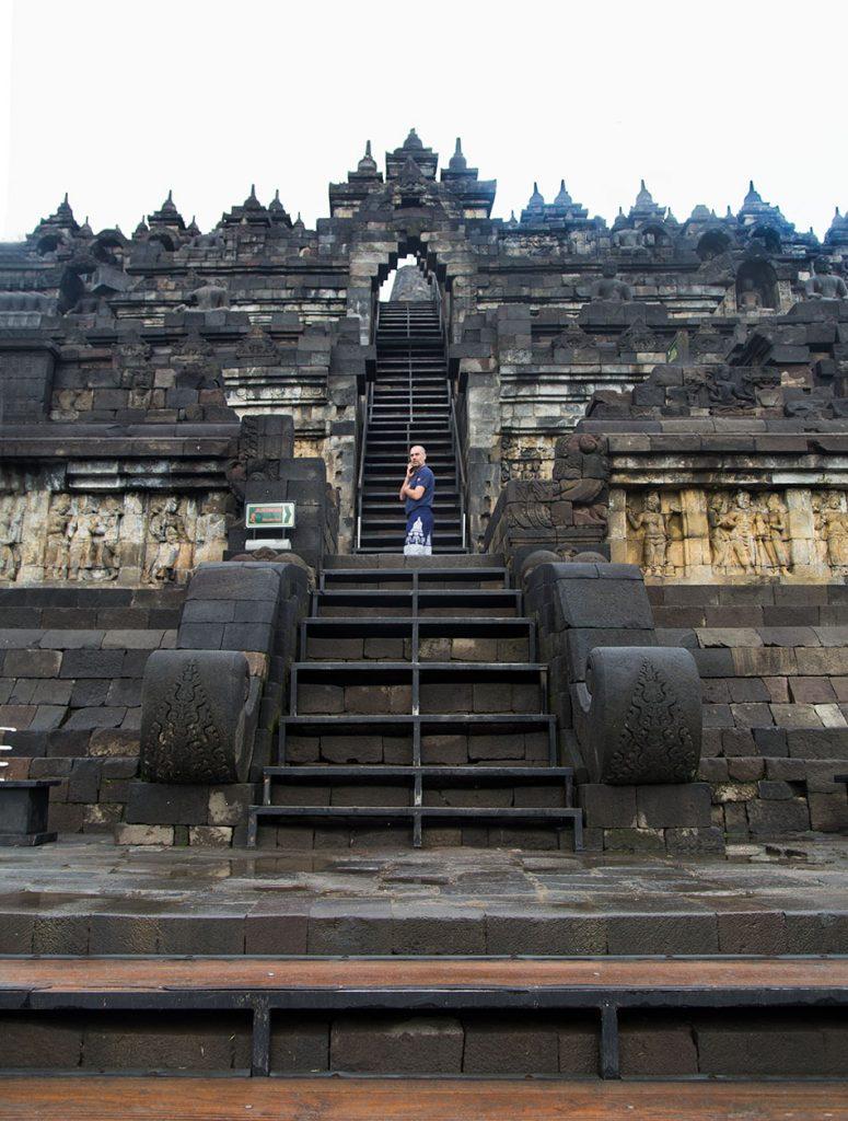 Fabian Fröhlich, Borobudur Temple, Eastern stairs
