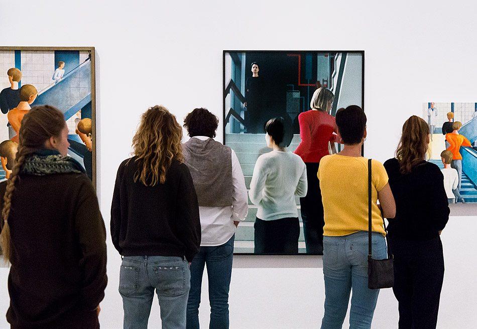 Fabian Fröhlich, Berlinische Galerie, Ausstellung original bauhaus, Carl (Casca) Schlemmer, Bauhaustreppe / Delia Keller, Die Bauhaustreppe / Brian O'Leary, Study for Santa Clinic Mural