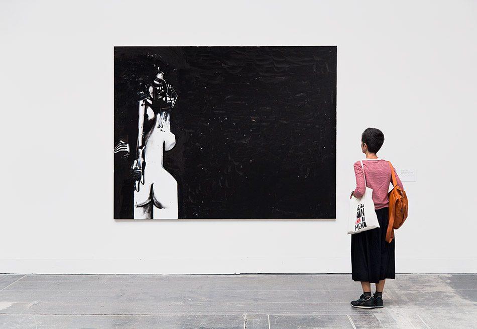Fabian Fröhlich, Biennale di Venezia, 2019, Giardini, Central Pavilion, George Condo, Standing Female Figure in Black