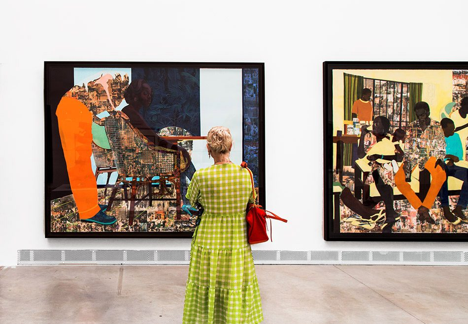 Fabian Fröhlich, Biennale di Venezia, 2019, Giardini, Central Pavilion, Njideka Akunyili Crosby, And We Begin To Let Go / 5 Umezebi Street, New Haven, Enegu