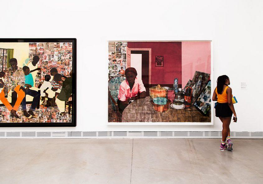 Fabian Fröhlich, Biennale di Venezia, 2019, Giardini, Central Pavilion, Njideka Akunyili Crosby, 5 Umezebi Street, New Haven, Enegu /Mama, Mummy and Mamma
